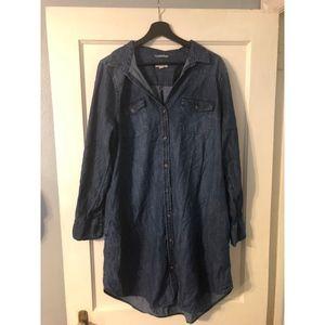 Merona size XXL long sleeve jean dress